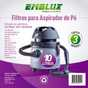 03 Un Filtro Aspirador De Pó Electrolux Wap Bosch Outros A10