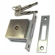 fechadura auxiliar Trava tetra 1500 Quadrada Escovada Pado