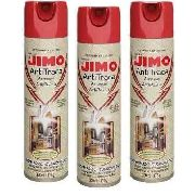Kit 03 Jimo Antitraça Spray Aerossol 300ml Mata Traça