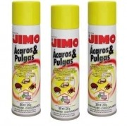 **Kit 03 Jimo Mata Ácaros Pulgas E Carrapatos Aerossol 300ml