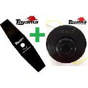 **kit Carretel Nylon + Faca Roçadeira Gasolina Toyama Original