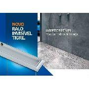 **Kit 04 Ralo Linear Oculto Invisível 90cm Tigre banheiro