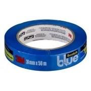 Fita Crepe 3m 24mmx50mt Azul