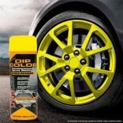 Tinta Spray Envelopamento Dip Color Amarelo Fosco 400ml