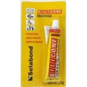 Silicone Incolor 50g Selabond Box, Pias, Ajulejos, Alumínio