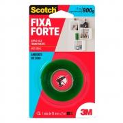 Fita Dupla Face 3M Transparente Fixa Forte 800g 19mmx2m