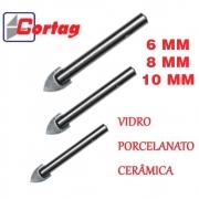 KIT - Broca Para Vidro 2-6mm 1-8mm 2-10mm