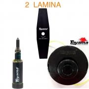 kit Carretel Nylon + 2 Lamina Faca 2p + Engraxadeira Universal