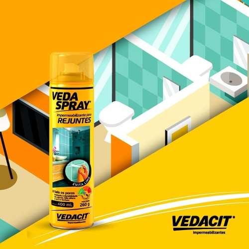 Veda Spray Impermeabilizante Para Rejuntes 400ml Vedacit