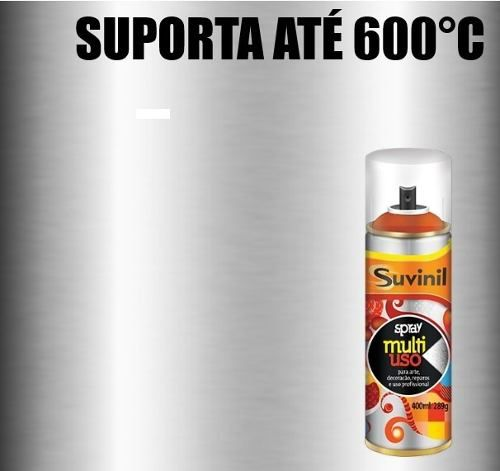 Tinta Spray Alta Temperatura Alumínio Metálico 300ml Suvinil
