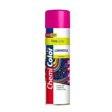 Tinta Spray Luminosa Rosa Pink Fluorescente 400ml Chemicolor