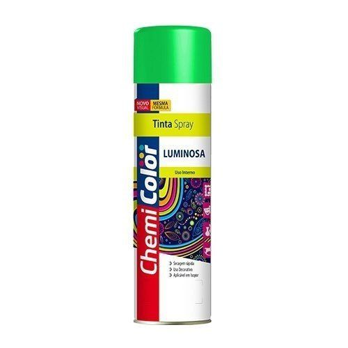 Tinta Spray Luminosa Verde Fluorescente 400ml Chemicolor