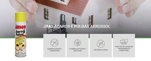 Jimo Mata Ácaros Pulgas E Carrapatos Aerossol 300ml