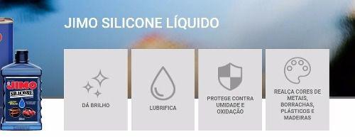 Jimo Silicone Líquido 250ml Uso Automotivo Doméstico