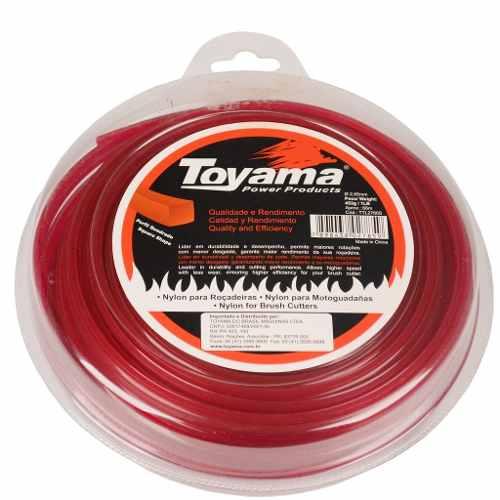 Fio Nylon Quadrado Roçadeira Gasolina 2.65mm X 66m Toyama