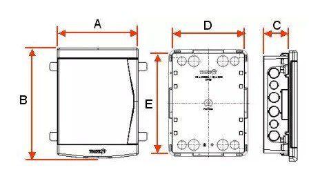 Quadro Distribuição Embutir 6/8 Disjuntores Branca Pvc Tigre