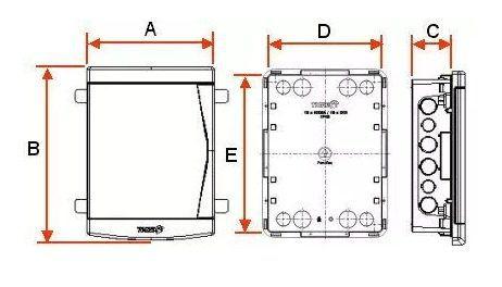 Quadro Distribuição Embutir 12/16 Disjuntores Branca Pvc Tig