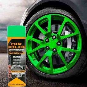 Tinta Spray Envelopamento Dip Color Luminosa Verde 400ml