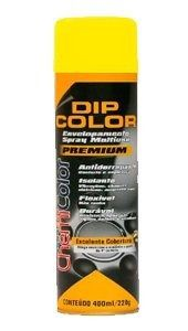 Tinta Spray Envelopamento Dip Color Amarelo Fosco 400ml