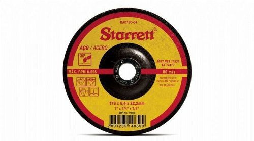 Disco De Desbaste 115 X 5,0 X 22,2 Mm Dad180-64 Starrett