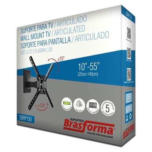 Suporte Tv Lcd 10 A 55 Braço Articulado Brasforma Sbrp130