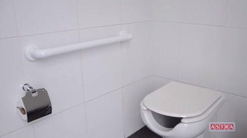 Barra De Apoio Banheiro 30cm Preto\ Idoso Deficiente Astra