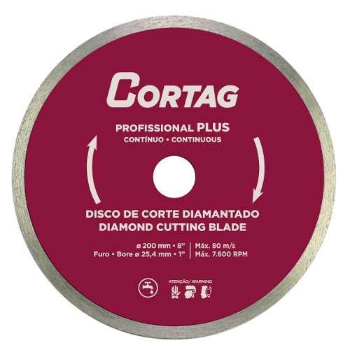 Disco De Corte Diamantado 200x25,4mm Zapp 200 E 1250 Cortag