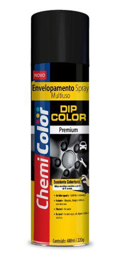 Spray Envelopamento Dip Color Prata Metálico 400ml Chemicolor