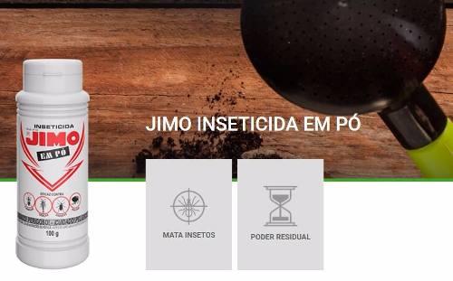 Inseticida Jimo Pó 100g Mata Pulgas Formigas Traças Baratas