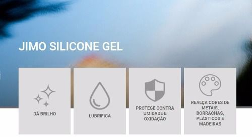 Jimo Silicone Gel Lavanda 200g Uso Automotivo E Doméstico