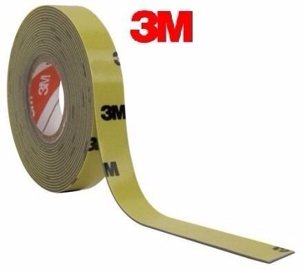 Fita Dupla Face Automotiva 3m Frisos Emblemas 12mm X 3mt