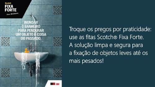 Fita Dupla Face 3m Fixa Forte Banheiros Úmidos 24mmx1,5metro