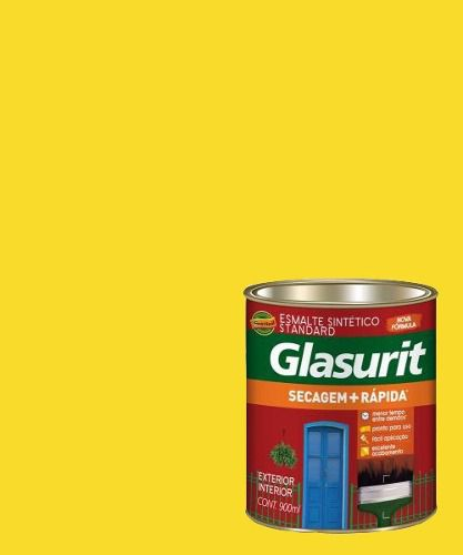 Tinta Esmalte Sintético Brilhante Amarelo Glasurit 900ml