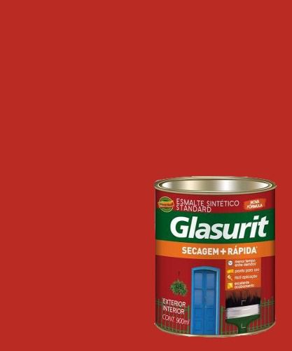 Tinta Esmalte Sintético Brilhante Vermelho Cereja Glasurit 900ml