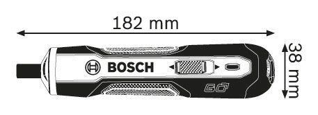 Parafusadeira Go Bosch 3,6v Bivolt + 1 Bits Ph2
