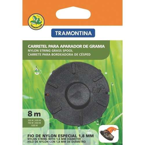 Carretel 1 Fio De Nylon 8mts Aparador De Grama Tramontina