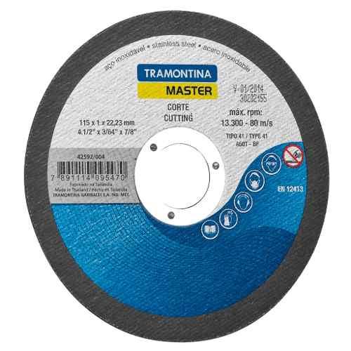 """Disco de corte fino para aço inox e materiais endurecidos 4.1/2"""" Tramontina"""
