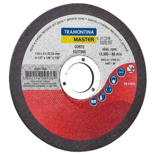 Disco De Corte Para Aços E Metais Ferrosos Em Geral 4.1/2 Tramontina