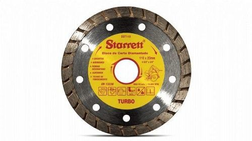 Disco De Corte Diamantado Turbo 110mm Starret