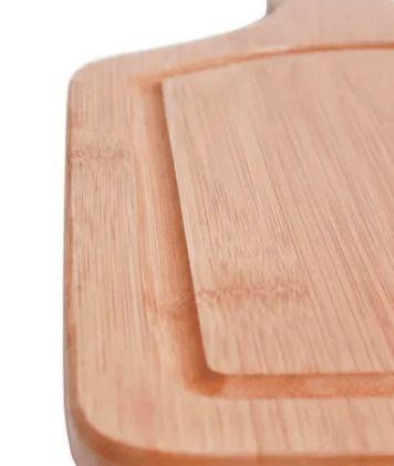 Tábua P/ Corte Bamboo C/ Cabo 38,5cmx20,5cm Mor