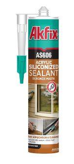 Adesivo Selante Acrílico Branco AS606  AKFIX 550g