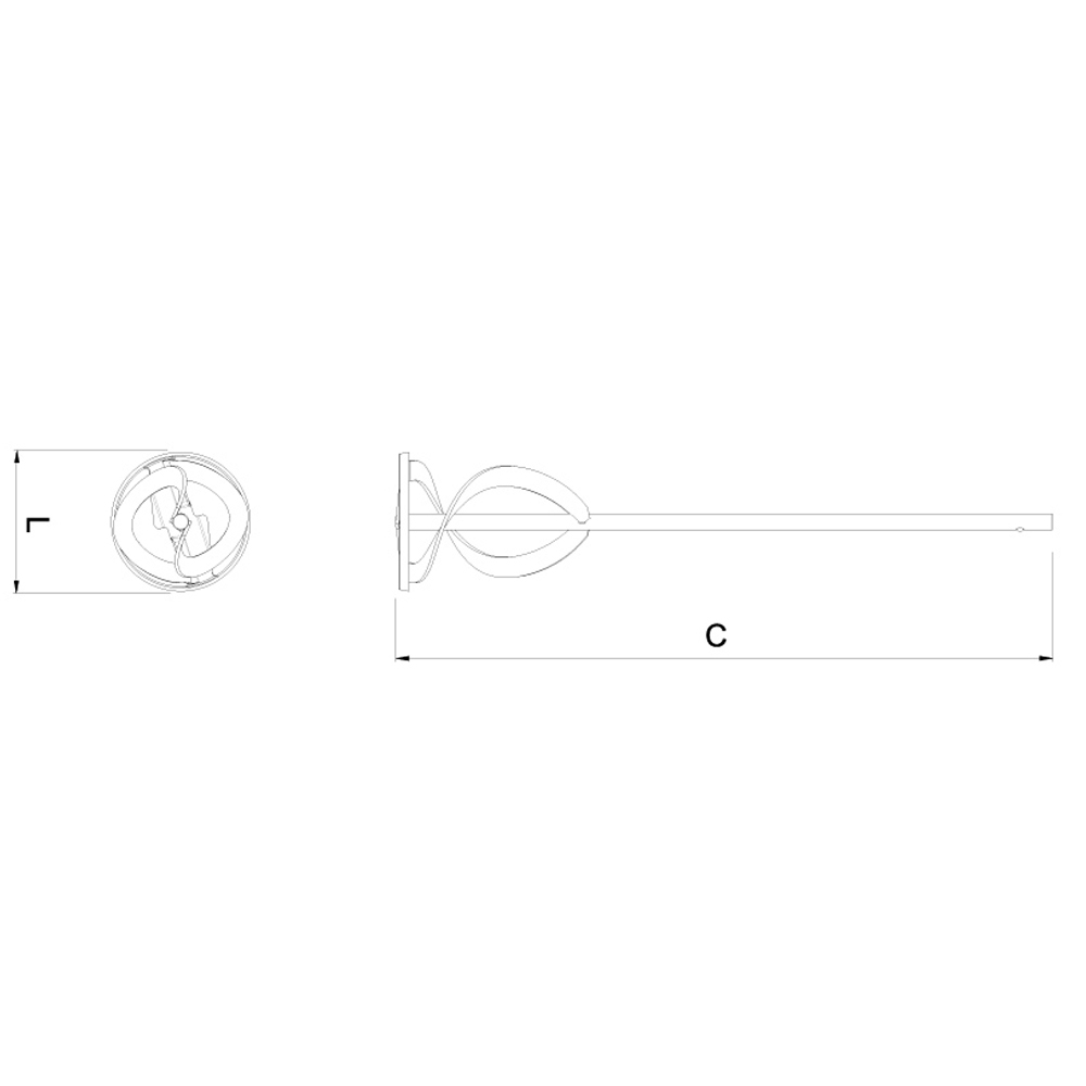 Batedor de Argamassa 40 cm CORTAG