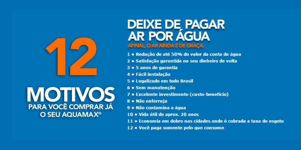 Bloqueador De Ar Aquamax Original Redutor de Conta de Água