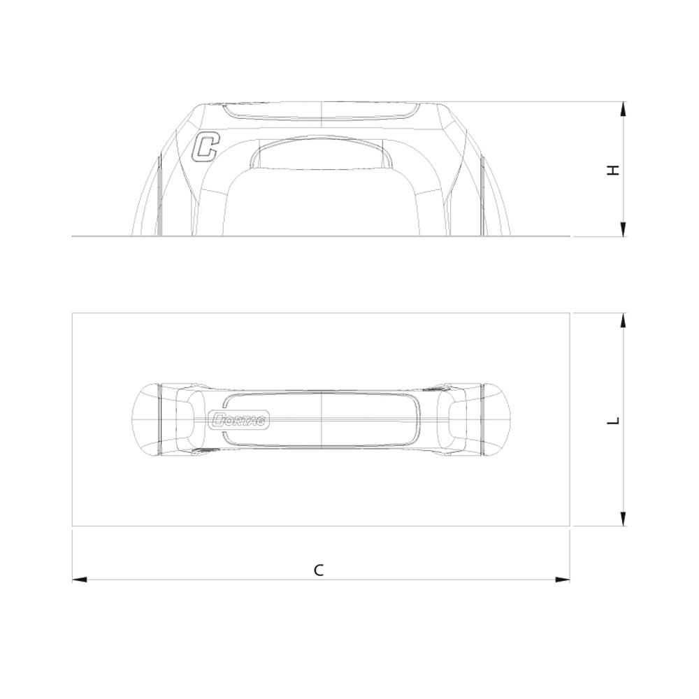 Desempenadeira de Lisa - 48 cm - CORTAG