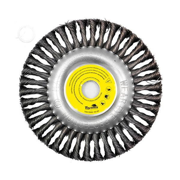 Escova de Aço Rotativa 200mm Para Roçadeiras Toyama
