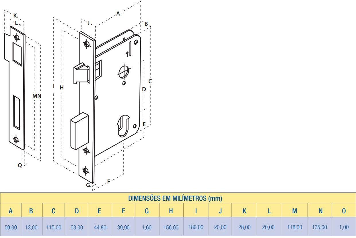 Fechadura Interna Inox Premium  2700/71 IP Aliança