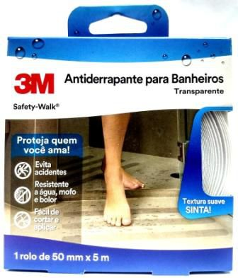Fita Antiderrapante 3m Transp. Banheiro Áreas Úmidas 50mmx5m