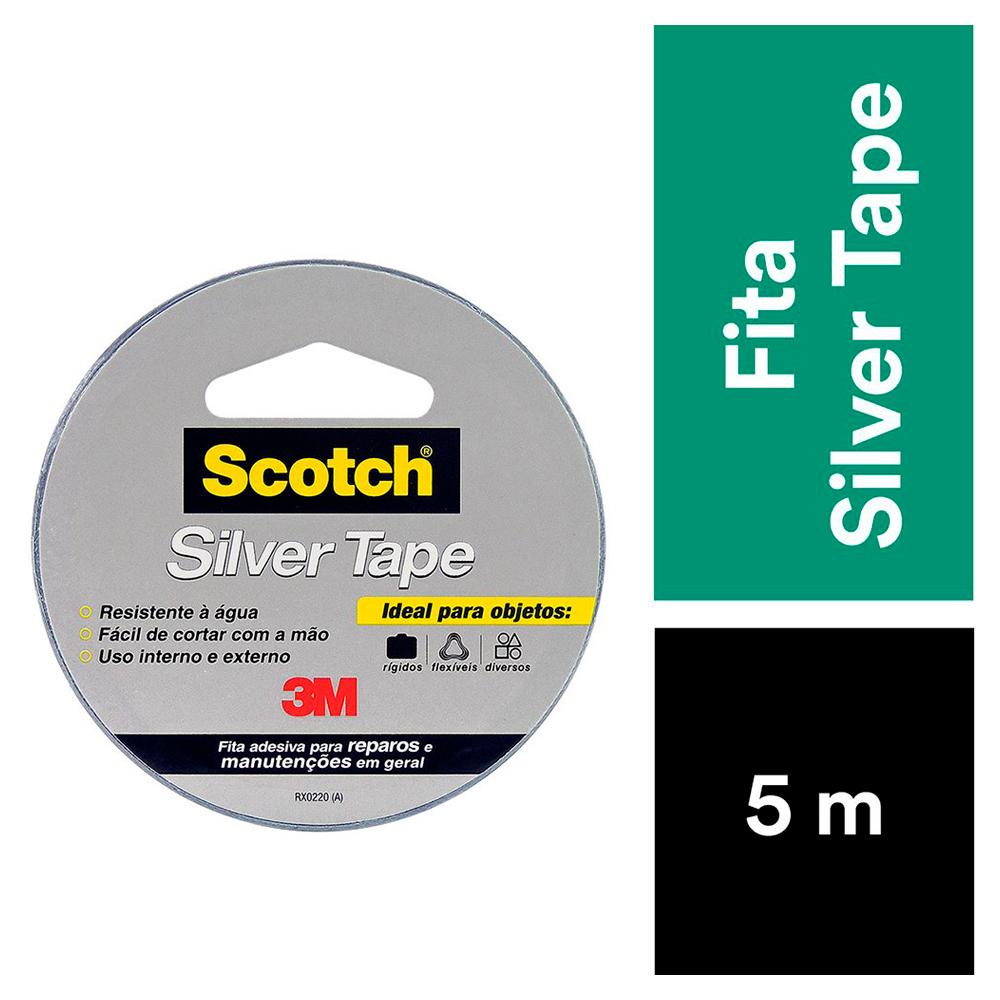 Fita Silver Tape Reparos Fixação 45mmx5m Scotch 3M