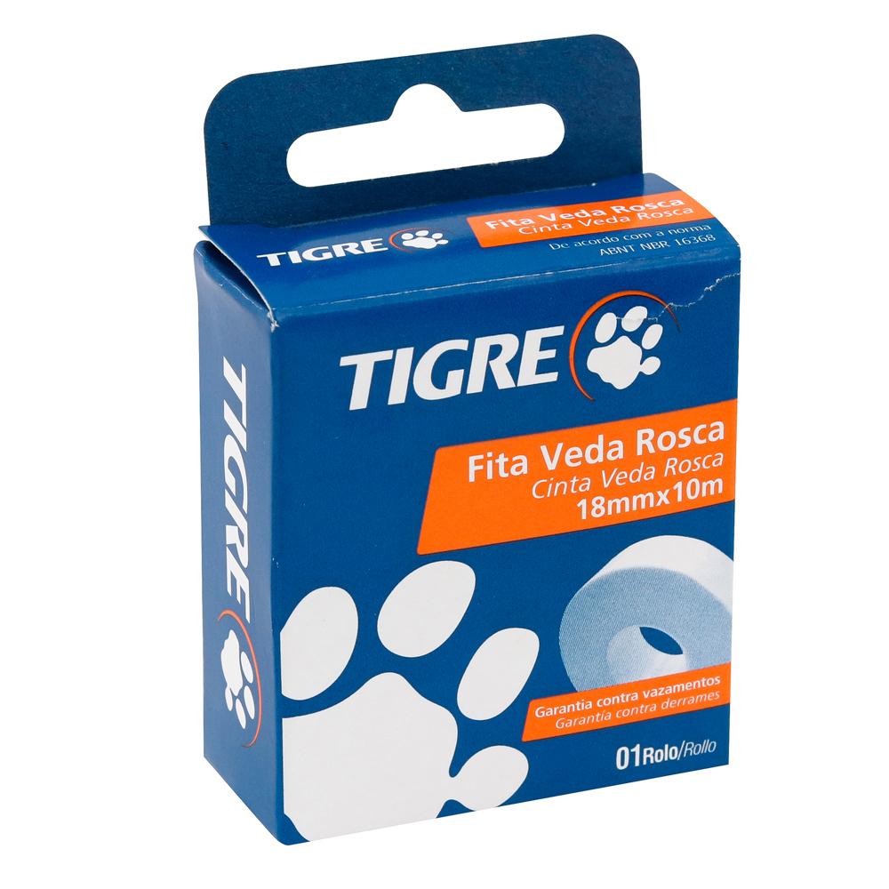 Fita Veda Rosca 18mmx10m - Tigre