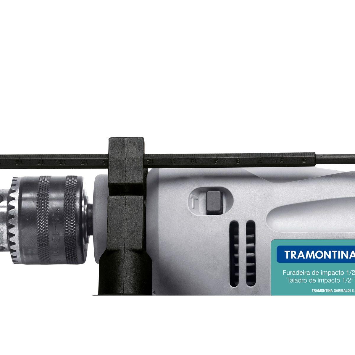 FURADEIRA IMPACTO 127V/500W 1/2 TRAMONTINA